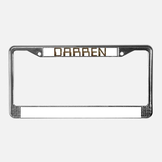 Darren Circuit License Plate Frame