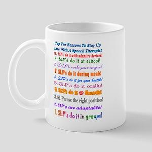 Up Late SLP Top Ten Mug