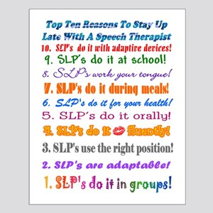 Up Late SLP Top Ten Small Poster