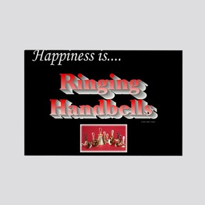 Happiness Is... Black Rectangle Magnet