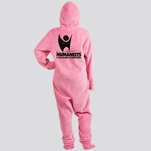 Humanists Non-prophet logo Footed Pajamas
