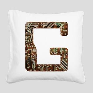 G Circuit Square Canvas Pillow