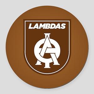 Lambda Theta Phi Logo Round Car Magnet