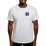 Masonic Police Shield Ash Grey T-Shirt