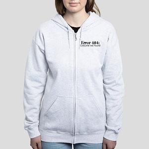 Error 404: Costume not found Women's Zip Hoodie