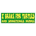 I Brake For Turtles Bumper Sticker