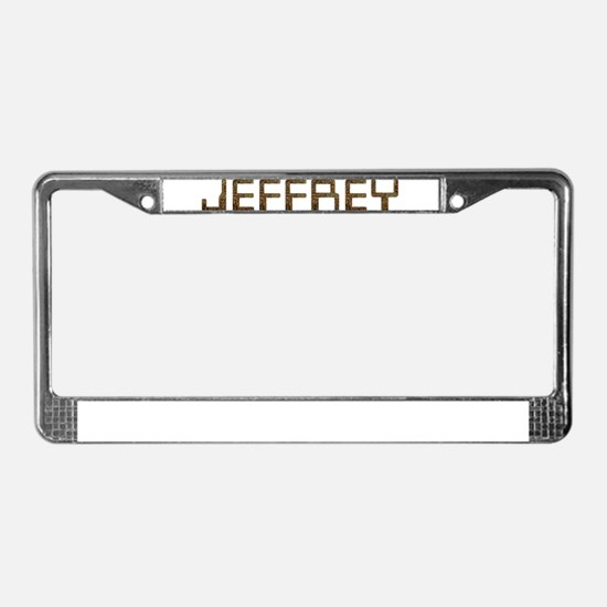 Jeffrey Circuit License Plate Frame