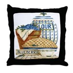 Blueberry Fixin's Throw Pillow