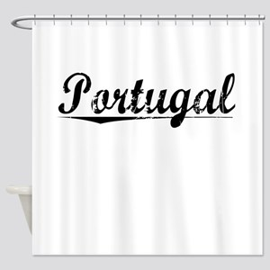 Portugal, Vintage Shower Curtain