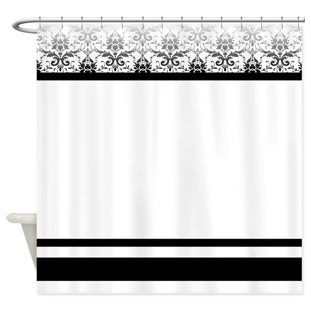 black and white bathroom curtains black and white damask shower curtain by stolenmomentsph 22714