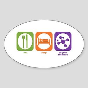 Eat Sleep Polymer Oval Sticker
