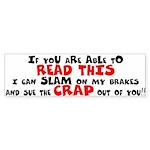 Read This Crap Bumper Sticker