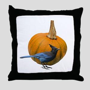 Jay Pumpkin Throw Pillow