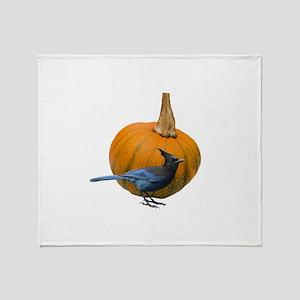 Jay Pumpkin Throw Blanket
