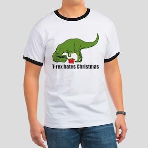 T-rex hates Christmas Ringer T