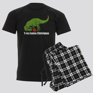 T-rex hates Christmas Men's Dark Pajamas