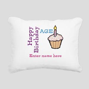 Personalized Birthday Cupcake Rectangular Canvas P
