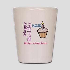 Personalized Birthday Cupcake Shot Glass