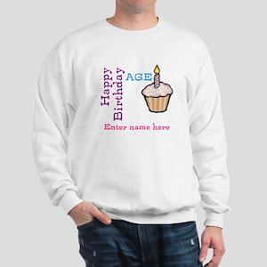 Personalized Birthday Cupcake Sweatshirt
