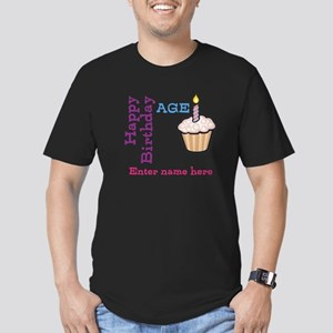 Personalized Birthday Cupcake Men's Fitted T-Shirt