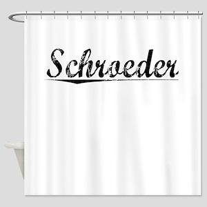 Schroeder, Vintage Shower Curtain
