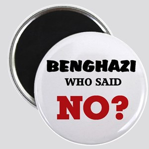 "Benghazi Who Said NO? 2.25"" Magnet (10 pack)"