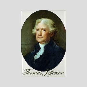Thomas Jefferson Rectangle Magnet