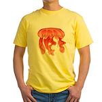 Giant Deep Sea Jellyfish Yellow T-Shirt