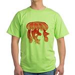 Giant Deep Sea Jellyfish Green T-Shirt