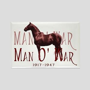 Man o War Rectangle Magnet
