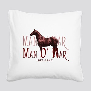 Man o War Square Canvas Pillow
