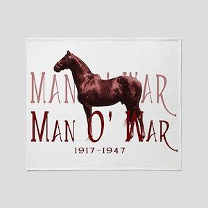 Man o War Throw Blanket