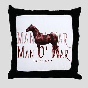 Man o War Throw Pillow