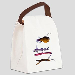 Deep Sea Fish Teeth Canvas Lunch Bag