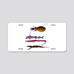 Deep Sea Fish Teeth Aluminum License Plate