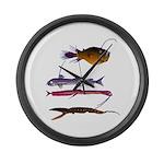 Deep Sea Fish Teeth Large Wall Clock