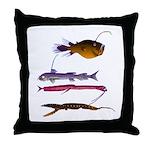 Deep Sea Fish Teeth Throw Pillow