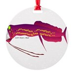 Deep Sea Dragonfish Round Ornament