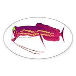 Deep Sea Dragonfish Sticker (Oval)