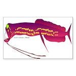Deep Sea Dragonfish Sticker (Rectangle)