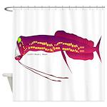 Deep Sea Dragonfish Shower Curtain