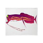 Deep Sea Dragonfish Throw Blanket