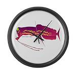 Deep Sea Dragonfish Large Wall Clock