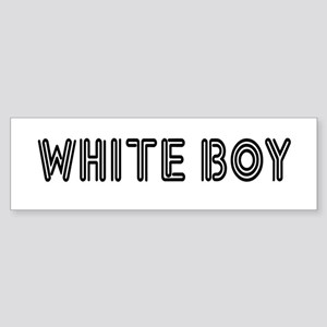 WHITE BOY Bumper Sticker