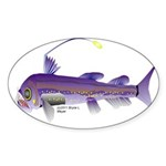 Deep Sea Viperfish Sticker (Oval 50 pk)
