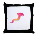 Deep Sea Worm Throw Pillow