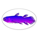 Coelacanth Sticker (Oval 50 pk)