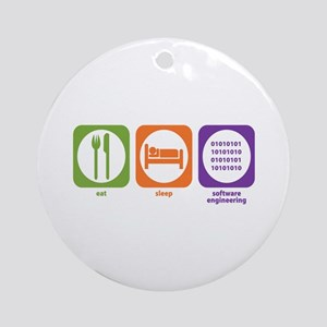 Eat Sleep Software Ornament (Round)