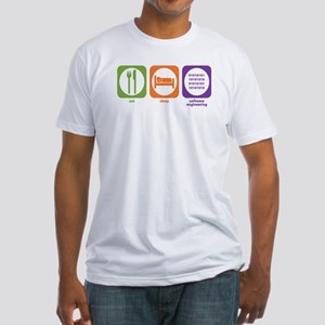 Eat Sleep Software Fitted T-Shirt