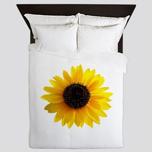 Golden sunflower Queen Duvet